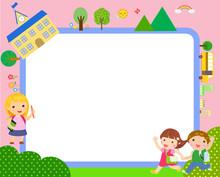 Education Back To School Cartoon Kids.