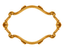 Oval Frame Isolated On White Background, Including Clipping Path