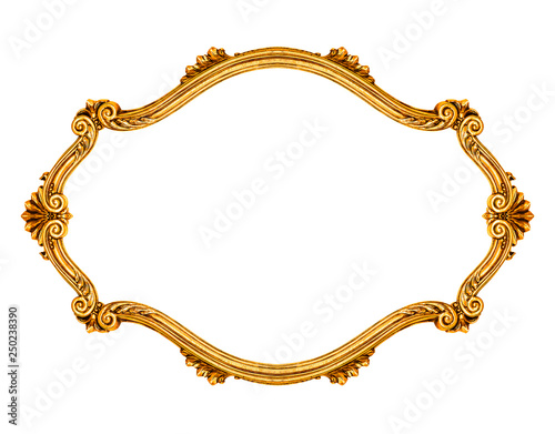 Photo  Oval frame isolated on white background, including clipping path
