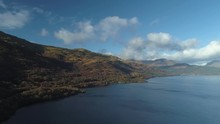 High Up Perspective Looking Over Loch Lomand And Ben Lomand