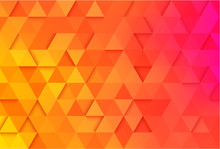 Orange Geometric Background Wi...
