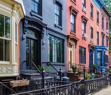 Colorful Façades In Slope Park, Brooklyn, New York, USA