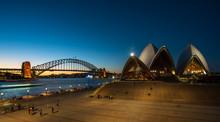 Sydney Landmark At Dusk