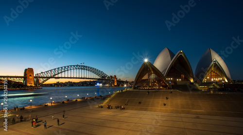 sydney landmark at dusk Wallpaper Mural