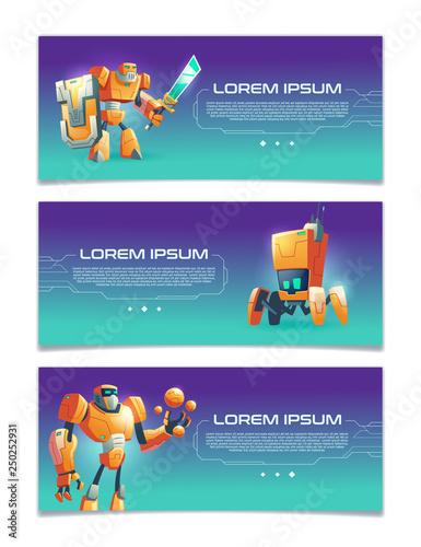 Photo  Artificial intelligence online service, robotics technologies startup, computer