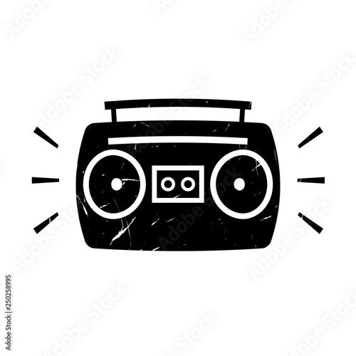 Photo Boombox ghetto blaster grunge icon