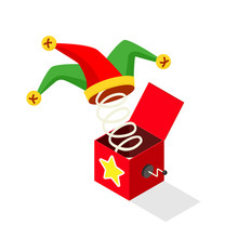 Jack In The Box Icon. Clipart ...