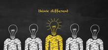 Chalkboard Bulb People - Think...