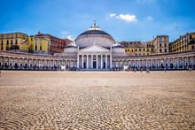 View Of Piazza Del Plebiscito, Naples,Italy
