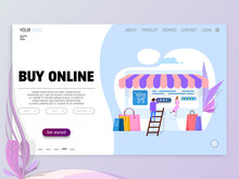 Online Shopping Concept, Illus...