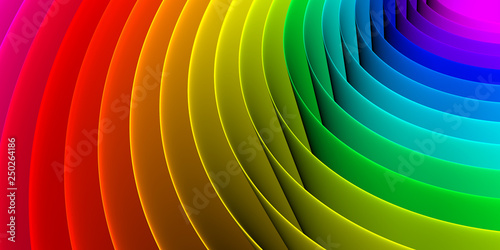 Photo  Colorful abstract spiral pattern background