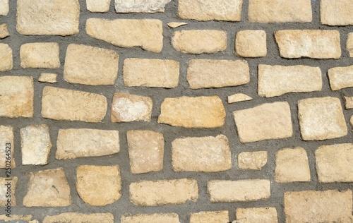 Mur de pierres nouvellement refait Canvas Print