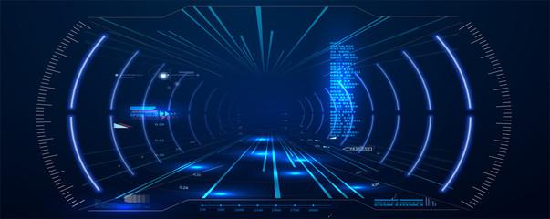 Virtual reality. Futuristic...
