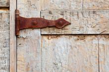 Rusted Door Hinge