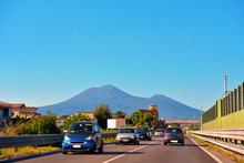 Vesuvius Seen From The Ring Road To The Highway