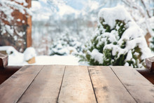 Big Wooden Table Outdoors
