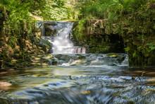 A Beautiful Waterfall Located In Snowdonia National Park, Gwynedd, Wales, UK