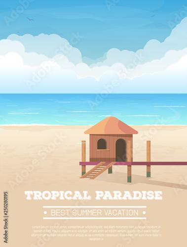 Fotomural Summer vacation vertical banner
