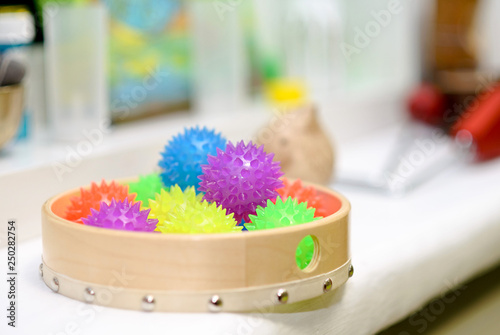Tactile pimply balls for children