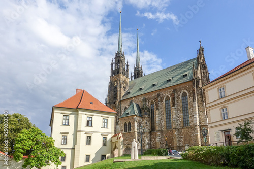 BRNO, CZECH REPUBLIC - July 25, 2017: Cathedral of St. Peter and Paul in Brno, Czech Republic
