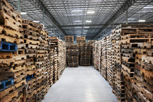 Stacked Pallets In Warehouse