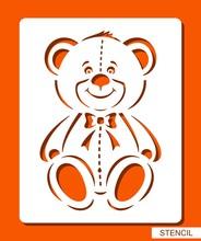 Happy Smiling Teddy Bear. Sten...
