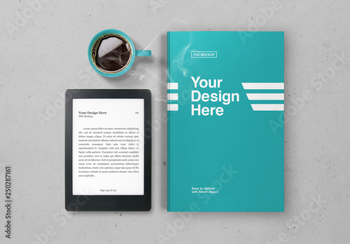 Ebook And Book Cover Mockup Buy This Stock Template And