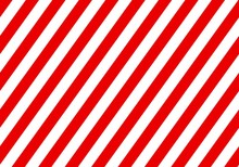 Warning Red Sign With White Rectangular Lines. Abstract Backdrop With Diagonal Red And White Strips. Danger Zone Background