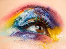 Colorised Eye Beauty Fashion, Make Up