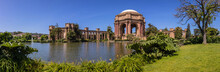 Panorama View Of The Palace Of Fine Arts . It Is One Of San Francisco's Architectural Landmarks