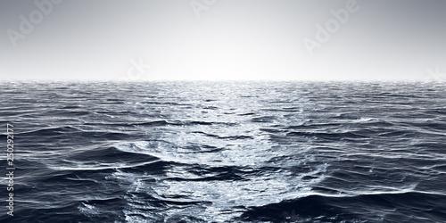 Fototapeta wide ocean waves horizon background obraz