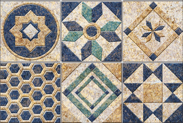 Panel Szklany Mozaika Digital tiles design.