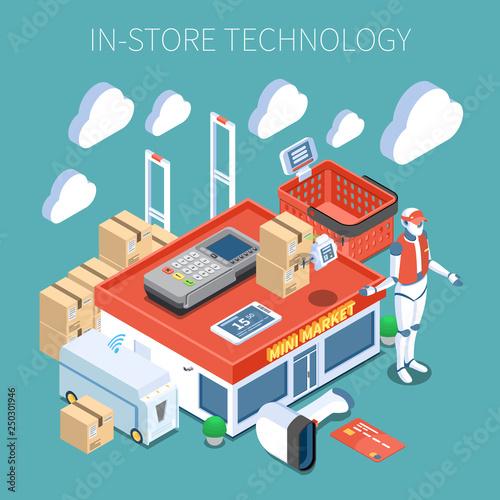Shop Technology Isometric Composition Canvas Print