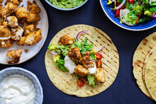 Fish Tacos With Spicy Cod And Avocado