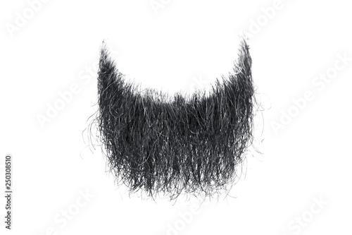 Fotografía  Disheveled black beard isolated on white. Mens fashion
