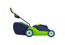 Lawn Mower Icon Vector.