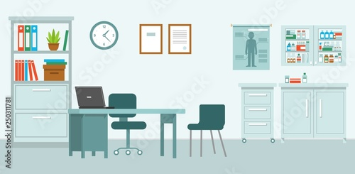 Medical Office In Flat Style Modern