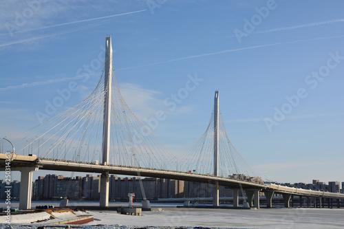 Staande foto Rotterdam bridge over river