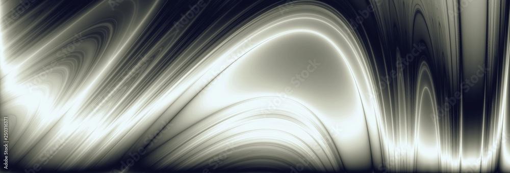 Fototapeta Wave metal widescreen illustration technology pattern