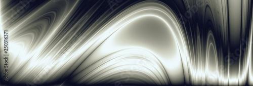 Fototapety, obrazy: Wave metal widescreen illustration technology pattern