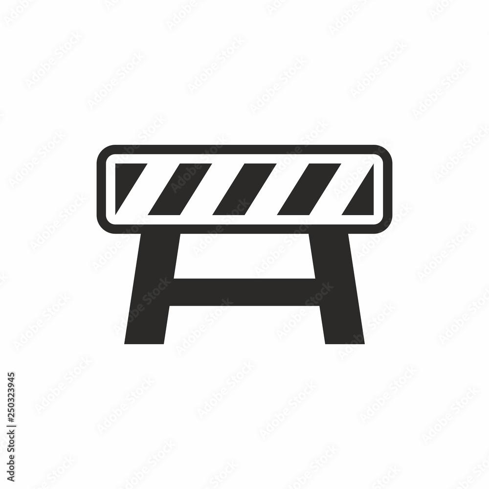 Fototapeta Road barrier icon