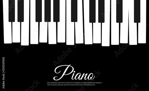 Fotografía  Piano vector background