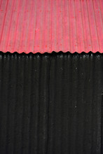 Corrugated Iron Building Painted Red And Black