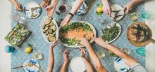 Mediterranean Style Dinner. Fl...