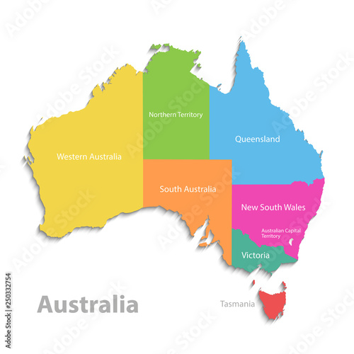 Political Map Of Victoria Australia.Australia Map New Political Detailed Map Separate Individual