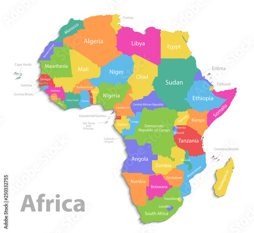Africa Map New Political Detailed Map Separate Individual