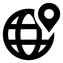Geolocation Globe Pin GPS Icon