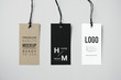canvas print picture - Three fashion label tag mockups