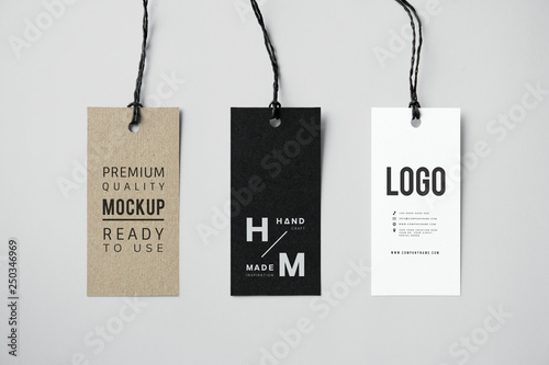 Three fashion label tag mockups Fototapete