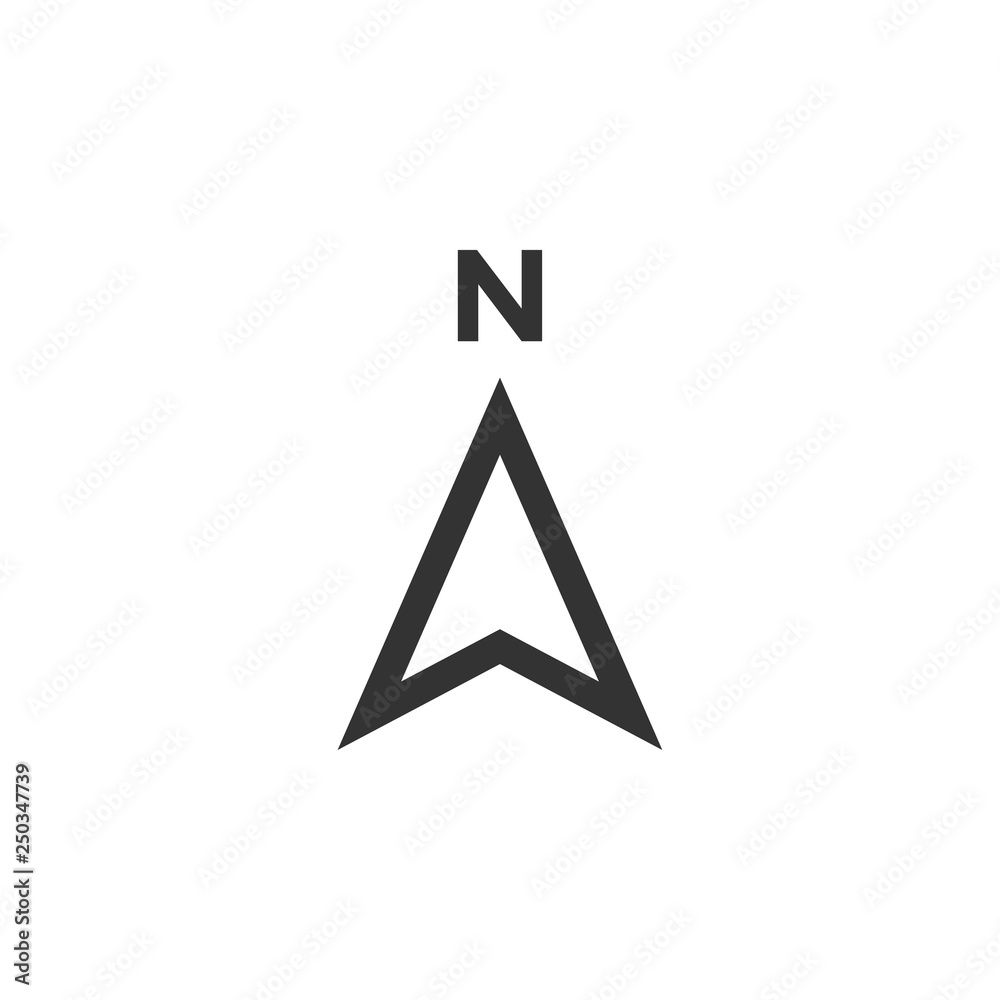 Fototapety, obrazy: Compass icon design template vector isolated
